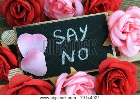 concept of say no