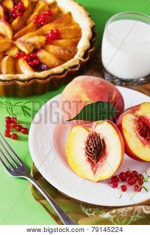 Fresh Peaches And Peach Pie
