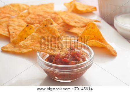Tortilla Chip In Sauce