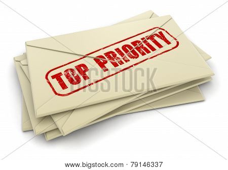 Top Priority letters  (clipping path included)