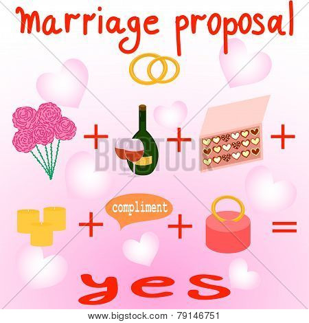 Illustration Of Marriage Proposal