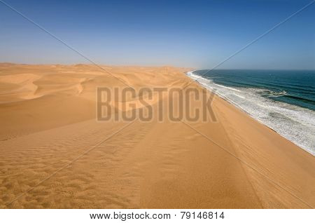 Coastline In The Namib Desert Near Sandwich Harbour, Namibia