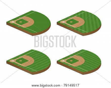 Baseball Fields 3D Perspective