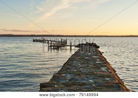 Sunset At The Landing Stage