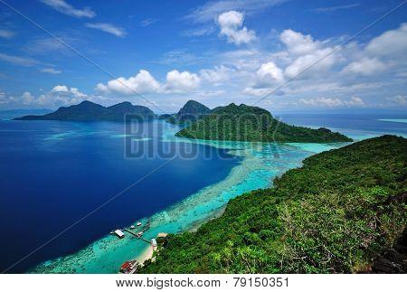 Sabah Borneo Island scenic view