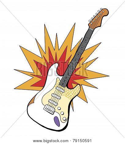 Band Electric Guitar Illustration