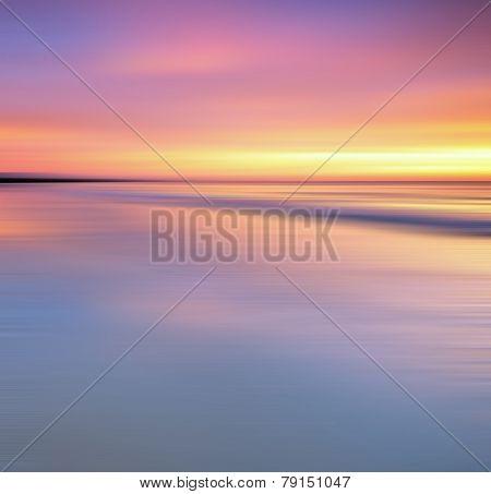 Long exposure sunset background