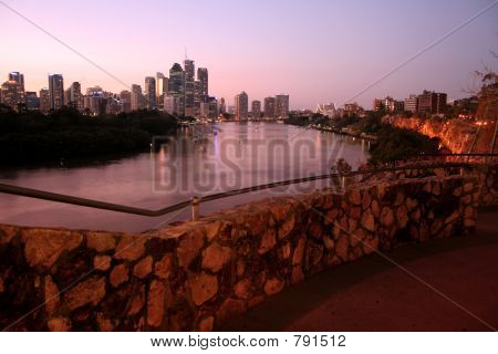 poster of Brisbane City from Cliffs