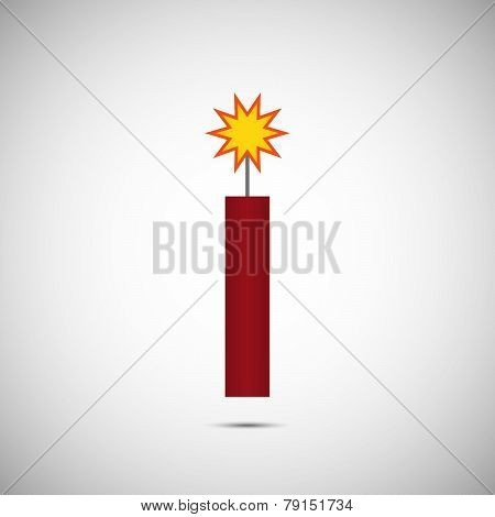 Vector Fire Cracker For Chinese New Year