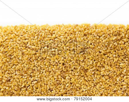 Bulgur Wheat  With Copy Space