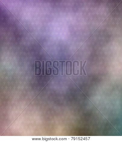Abstract Pastel Colored Fleur De Lis Pattern