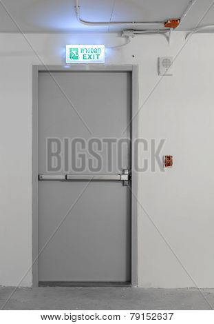 Emergency Exit With Sign