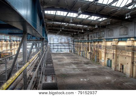 Old Crane In A Deserted Hall