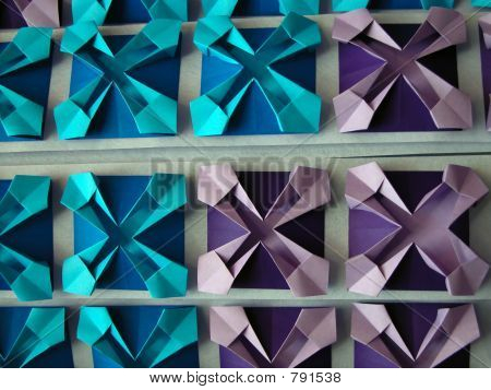 Abstract origami pattern