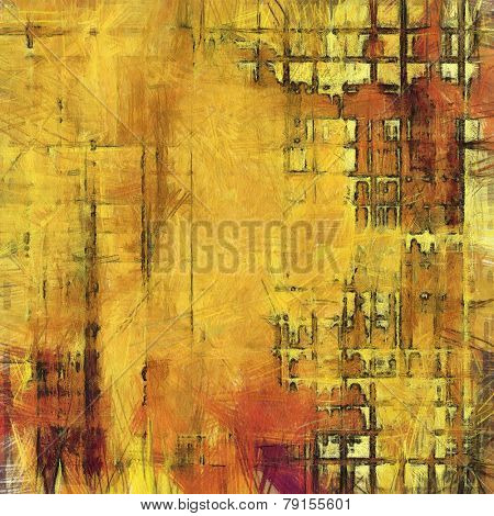 Abstract grunge background of old texture. With different color patterns: yellow (beige); brown; red (orange)