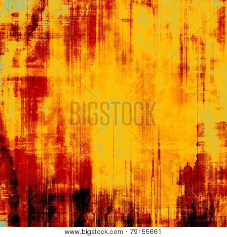 Antique grunge background with space for text or image. With different color patterns: black; yellow (beige); brown; red (orange)