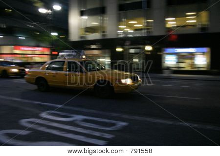 a taxi in new york