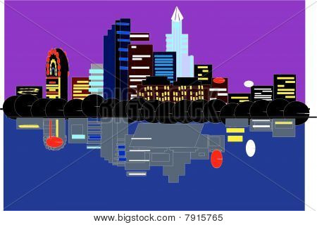 Austin Tx, skyline vector