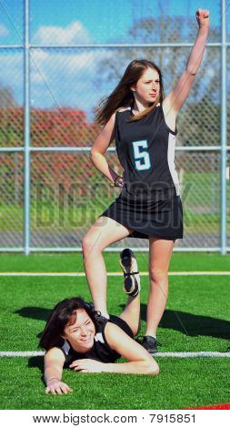 Triumphant Girls Lacrosse player