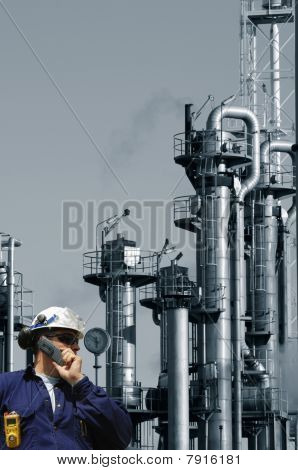 oil industry and worker