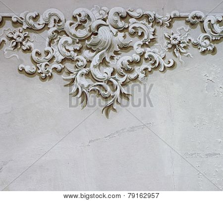 Baroque ornament detail wall decoration