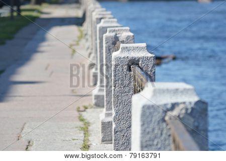 Fence Of Embankment Of Fontanka River