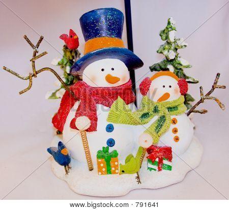 Família de boneco de neve
