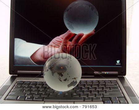 Laptop Keyboard Globes