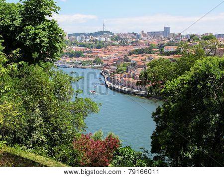 Center Of Porto By The River Douro In Portugal