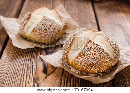 Pretzel Rolls (with Sesame)