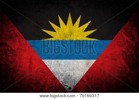 Antigua and Barbuda on old background