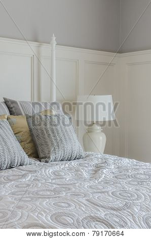 Pillows On King Size Bed In Bedroom