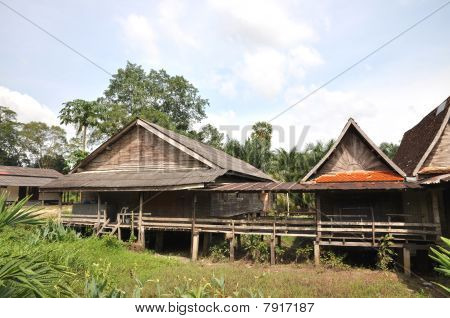 Old Wood Barrack Thailand Country