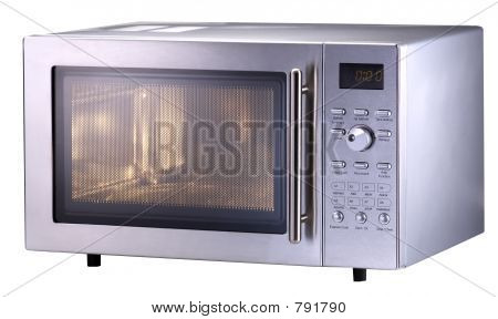 Modern Stainless Steel Microwave Oven