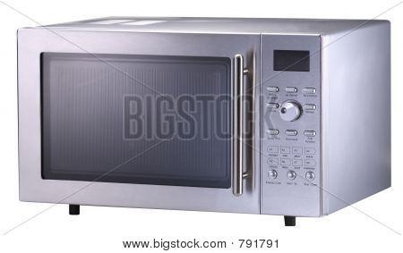 Stainless Steel Modern Microwave