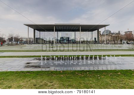 Berlin - Apirl 17, 2013 : The Paul Loebe Haus Parliamentary Building In Berlin