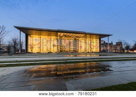 The Paul Loebe Haus Parliamentary Building In Berlin