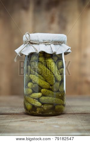 Jar of Pickled Gherkins