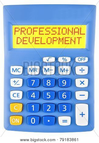 Calculator With Professional Development