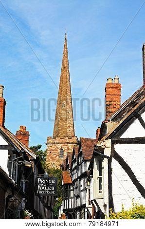 Ledbury Parish Church and Church Lane.