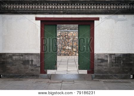 Old Wood Door In China
