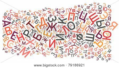 Russian Alphabet Background