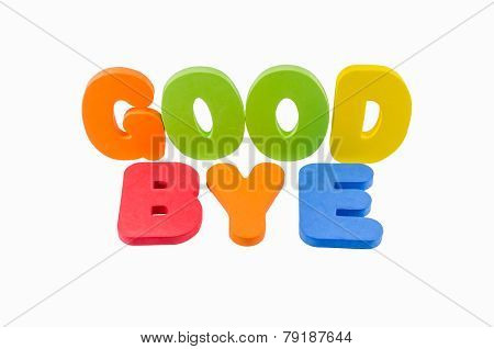 Good Bye Words Colorful