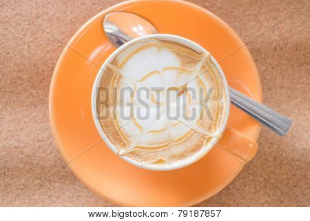 Hot Caramel Coffee Latte Cup