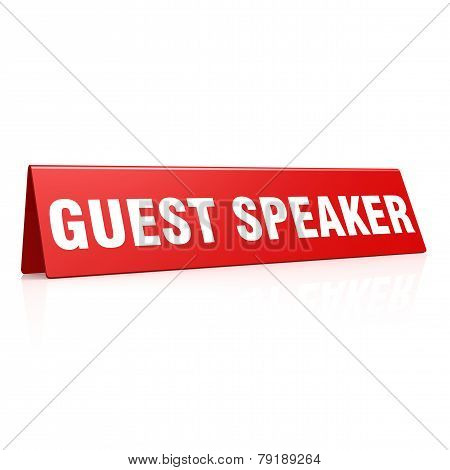 Guest Speaker Tag