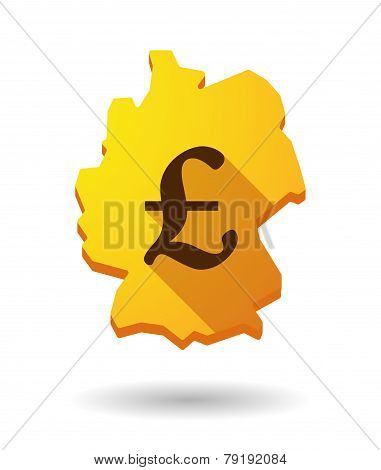 Germany Map Icon With A Currency Sign