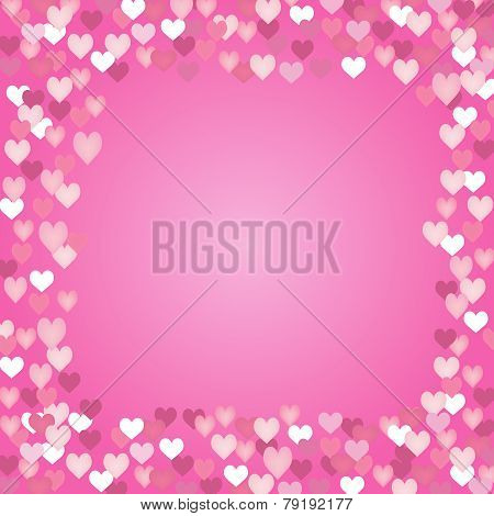 Valentine Vector-Heart Border with Copy Sapce