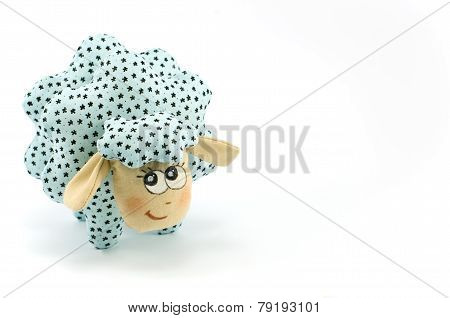 Rag-doll turquoise speckled lamb