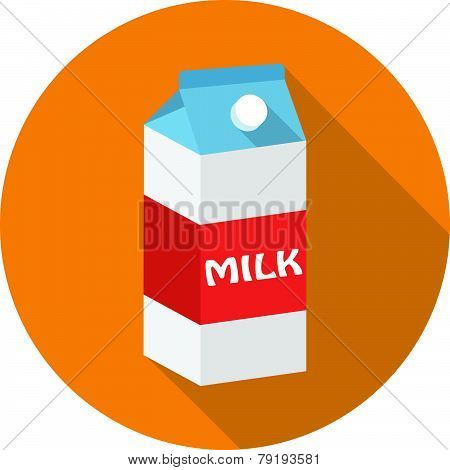 Vector milk box icon