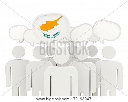 People With Flag Of Cyprus